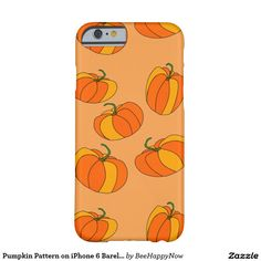 Pumpkin Pattern on iPhone 6 Barely There Case Barely There iPhone 6 Case