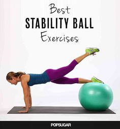 If you have bad knees or ankles using a yoga ball can help relieve the pressure while also adding a stability workout. They come in different sizes so don't get daunted yet!