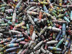 DIY-Anleitung: Perlen aus Papier herstellen via DaWanda.com