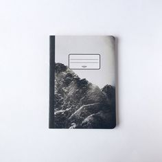 Black Mountain Notebook  Blank pages  Lined pages by PelhamGoods