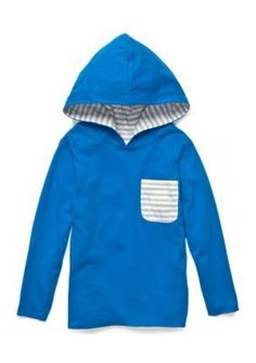 J. Khaki Blue Reversible Pocket Hoodie Boys 4-7