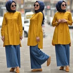 Fashion Dresses Casual Over 40 Hijab Outfit, Hijab Style Dress, Hijab Chic, Sporty Outfits, Mode Outfits, Fashion Outfits, Street Hijab Fashion, Muslim Fashion, Stylish Dresses For Girls