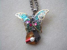 Steampunk Necklace Butterfly