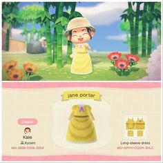 Nintendo Switch Animal Crossing, Animal Crossing Funny, Animal Crossing Qr Codes Clothes, Jane Porter, Ac New Leaf, Motifs Animal, Disney Outfits, Disney Princess Outfits, Animal Games