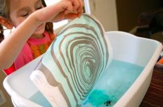 Suminagashi for Kids -- awesome paper marbling technique!!