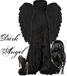"""Halloween - Dark Angel"" by lily1996x ❤ liked on Polyvore"