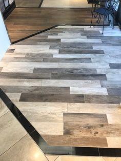 Wood Grain Tile, Wood Look Tile, Flooring Ideas, Floor Design, Porcelain Tile, Rustic Style, Modern Farmhouse, Tile Floor, Hardwood Floors