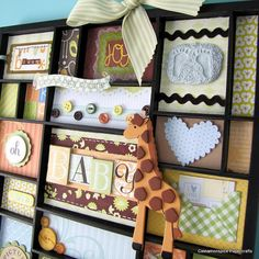Oh Baby Altered Printers Tray Collage by cinnamonspice on Etsy, $45.00