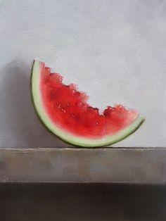 Watermelon - oil on panel - Neil Nelson