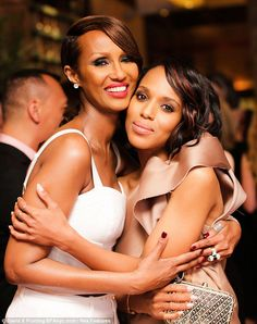 Double the beauty: Friends with Kerry for some time Iman and Kerry Washington