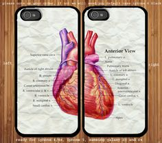 Heart Anatomy for couple case iphone