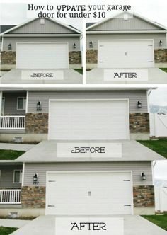 Just adding a little style to your garage doors will instantly transform them. You can actually give those doors the carriage house door look without spending hundreds on actual carriage house doors. - 49 Brilliant Garage Organization Tips, Ideas and DIY Projects #ApexExteriors