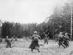 Germans surrendering to advancing Russian forces.