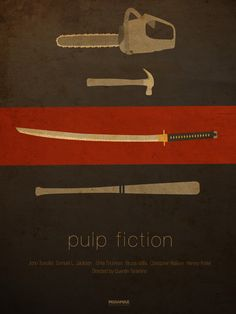 Beautifully subtle Pulp Fiction (Quentin Tarantino) poster