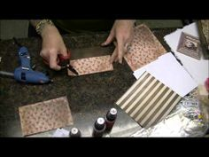 ▶ Altered Tim Holtz District Market Burlap Canvas, Process Video #2 - YouTube