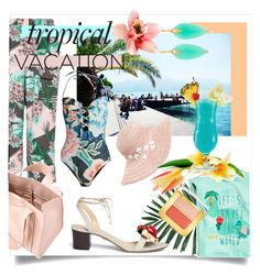 """""""Welcome to Paradise: Tropical Vacation"""" by kari-c ❤ liked on Polyvore featuring Mara Hoffman, River Island, Corto Moltedo, Dorfman Pacific, TIKI, Tom Ford, Annette Ferdinandsen, Charlotte Olympia and TropicalVacation"""