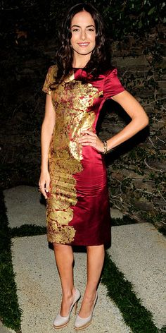 Camilla Belle wore a Jason Wu sheath, Cartier jewelry, and lavender pumps