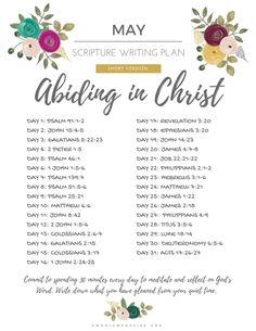 May Scripture Writing Challenge