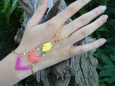 chevron slave bracelet summer chevron fashion by gildedingypsy