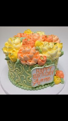 Gorgeous buttercream cake by the white flower cake shoppe