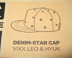 VIXX-THE-CELEBRITY-X-VIXX-X-the-studio-K-OFFICIAL-LEO-HYUK-DENIM-STAR-CAP-NEW