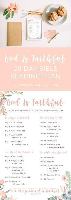 Bible Reading Plan For Women | Topical Bible Study | Bible Study Lessons | Bible Studies for Beginners | God's Faithfulness