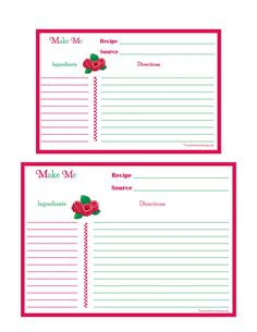 1000 images about printable recipe cards on pinterest for 5x7 recipe card template for word