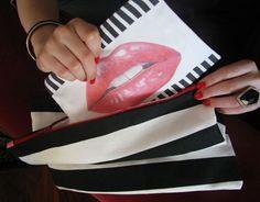 Kiss Me Lipstick Pouch, Get Organized!  MariRobeson.BigCartel