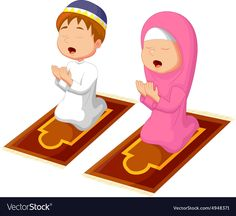 illustration of Muslim kid praying. Download a Free Preview or High Quality Adobe Illustrator Ai, EPS, PDF and High Resolution JPEG versions.