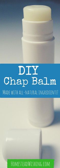 This homemade chapstick recipe works great on my sensitive skin. It is a basic recipe with no fragrances, dyes, or toxic chemicals. Come check out the recipe. | Homestead Wishing, Author Kristi Wheeler | DIY-chapstick-recipe, homemade-chapstick |