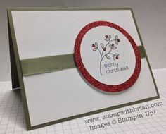 Video Tutorial: Quick and Easy Christmas Card