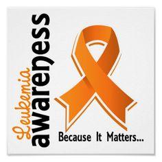 Leukemia Awareness 5 Posters from Zazzle.com