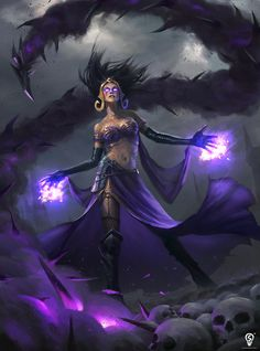 Fantasy Art: Liliana Vess - Fantasy Art by Bryan Sola, Philippines. Dark Fantasy Art, Fantasy Kunst, Fantasy Girl, Fantasy Artwork, Fantasy Inspiration, Character Inspiration, Design Inspiration, Fantasy Character Design, Character Art