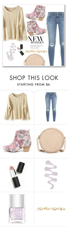 """Floral Ankle Booties"" by christinacastro830 ❤ liked on Polyvore featuring Frame Denim, Sbicca, Neiman Marcus, Sigma Beauty, Nails Inc., Charlotte Russe, women's clothing, women, female and woman"