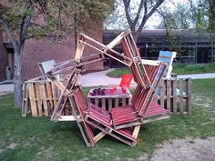Pallets park installation