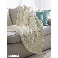 Seaside Blanket | Yarnspirations | Bernat Blanket | Free Pattern | Knit