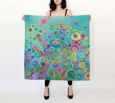 Art Scarf Inner Circle 100% silk scarf by ArtfullyFeathered