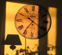 Photo of old French wall clock