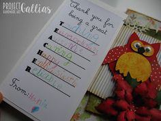 ProjectGallias: #projectgallias, thank you cards for teacher, kartki dla nauczyciela