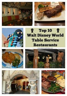 Some great restaurants where you can use your Disney Dining Plan Table Service Credits at Walt Disney World. Get the best value for your credits.