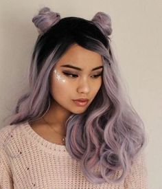 Purple Long Curly Wavy Wigs – mysladyYou can find Dyed hair and more on our website. Hair Dye Colors, Ombre Hair Color, Cool Hair Color, Dyed Hair Ombre, Dyed Hair Purple, Curly Hair Dye, Hair Colour Ideas, Dyed Ends Of Hair, Long Purple Hair