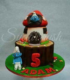 Smurf cake - Cake by Sara Mohamed