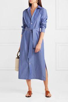 f03d9557771e A.P.C. Atelier de Production et de Création - Millie striped cotton-poplin  midi shirt dress