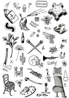 Masterly Small Flash Tattoo Tattoos For Men Small Tiny Tattoo Flash Small Tattoo Art Small Tattoos Men, Small Meaningful Tattoos, Black Tattoos, Random Tattoos, Flash Art Tattoos, Body Art Tattoos, Ship Tattoos, Gun Tattoos, Word Tattoos