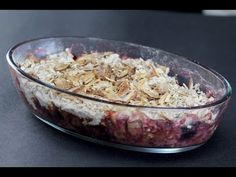 How to make Healthy Fruit and Nut Crumble.-Ideal dessert for the weight-watchers.