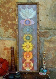 Art Chakra, Chakra Painting, Yoga Painting, Painting Frames, Yoga Kunst, Deco Zen, Reiki Room, Yoga Studio Design, Spiritual Paintings