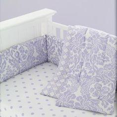 With a Flourish Crib Bedding (Lavender)