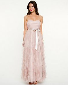 Mesh Sweetheart Ruffle Gown. From Le Chateau. #chicwedding