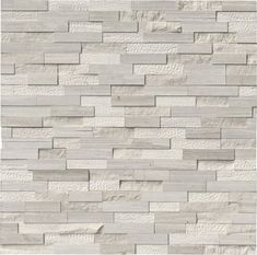 White Oak Multi Finish Ledger Panel features off-white natural marble of varied textures. Its distinctive finish adds warmth and interest to any space and it's suitable for a wide variety of design projects. Honed Marble, Marble Wall, Wall Tiles, Backsplash Tile, Stone Mosaic, Stone Tiles, Slate Stone, Stacked Stone Backsplash, Multi Design