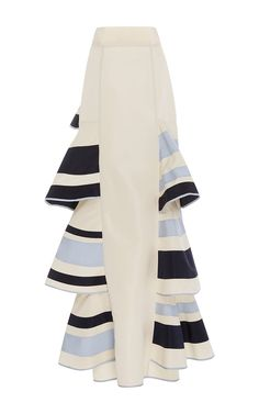 Lombard Street Tiered Ruffle Skirt by Johanna Ortiz Stripe Skirt, Ruffle Skirt, Ruffles, Skirt Fashion, Fashion Outfits, Jupe Short, Indian Designer Suits, Cute Skirts, Summer Trends